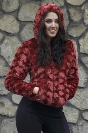 Semišová dámská bunda