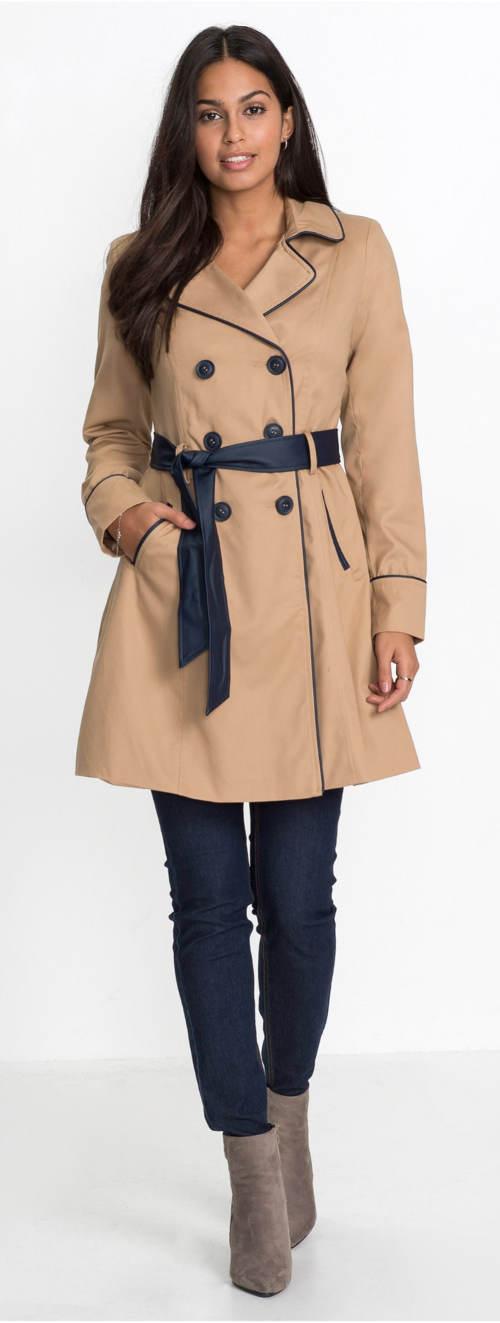Podzimní dámský kabát (trenčkot) 648191546c