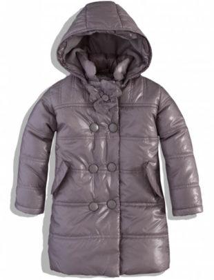 Šedý holčičí zimní kabátek