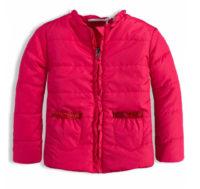Růžová dívčí bunda vhodná pro jaro/podzim