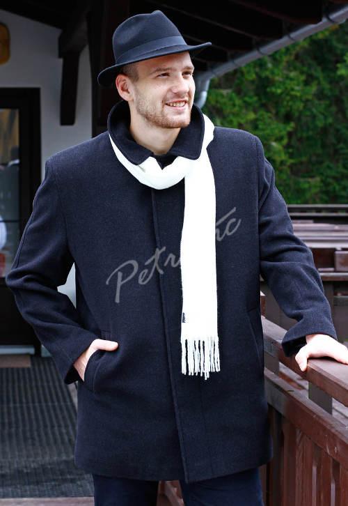 Pánský zimní kabát se skrytým zapínáním