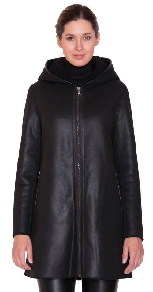 Zimní kabát z pravé kožešiny