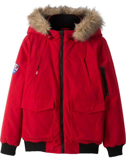 Červená holčičí outdoorová bunda