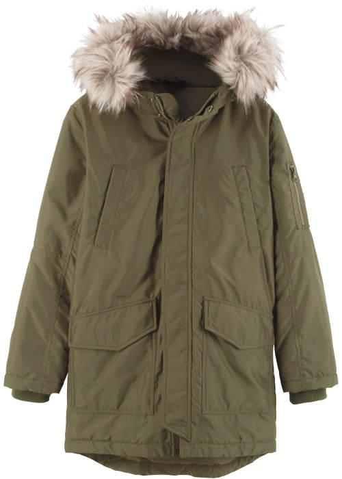 Klučičí zimní kabát s kožíškem