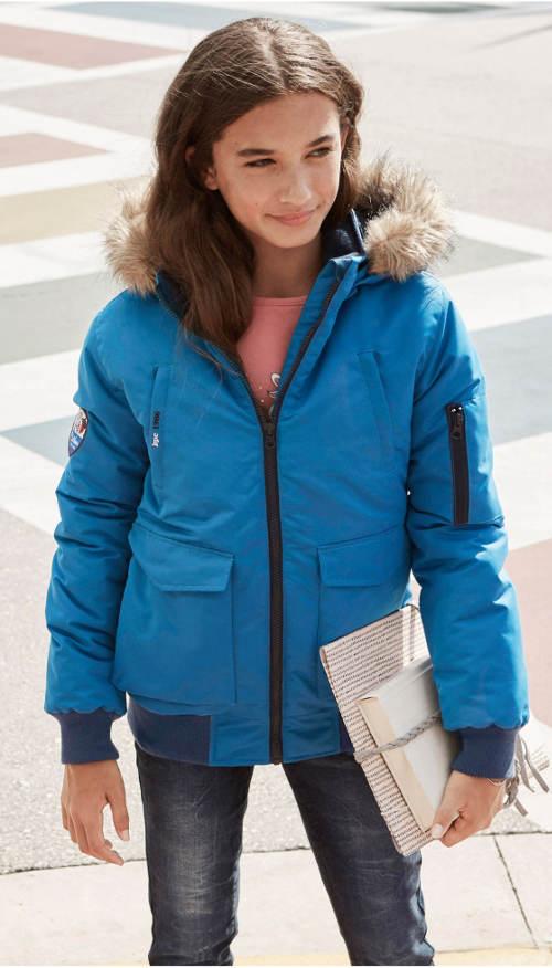 Modrá dětská holčičí bunda