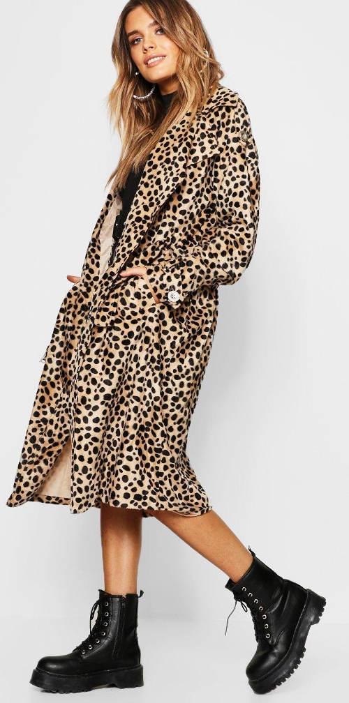 Dámský trenčkot leopard