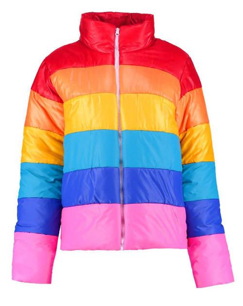 Barevná dámská zimní bunda