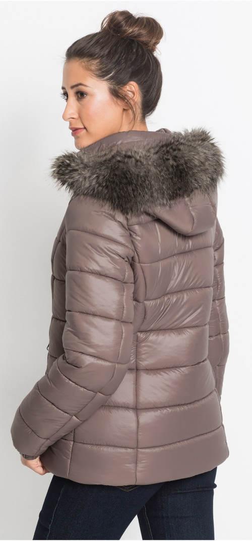 Béžovo-hnědá dámská bunda