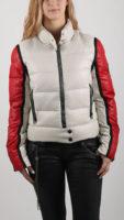 Bílo-červená sportovní dámská zimní bunda Replay