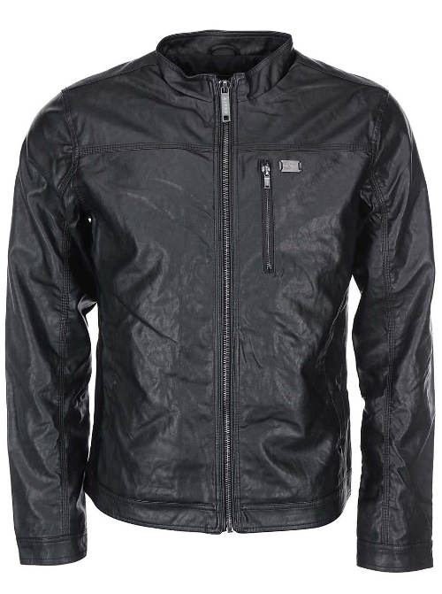 Černá pánská koženková bunda
