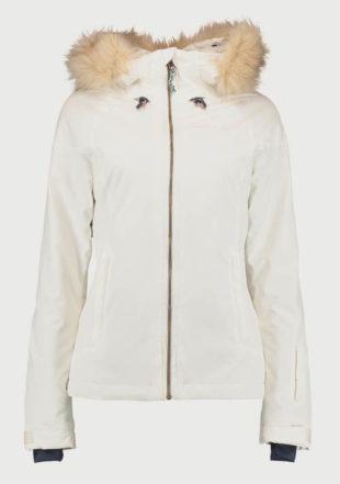 Dámská bílá zimní bunda O´Neill s odnímatelným umělým kožíškem