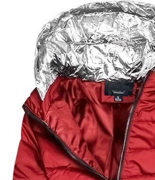 Dámská bunda se stříbrnou kapucí