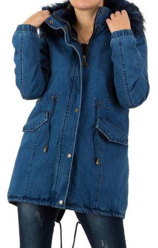 Dámská jeansová zimní bunda Artr Fashion