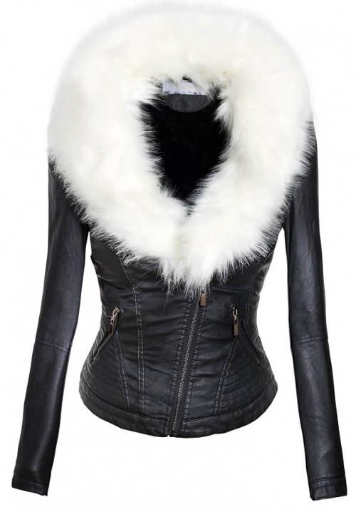 Dámská zimní bunda z kůže