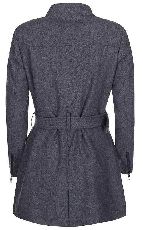 Dámský zimní kabát s mírným stojáčkem