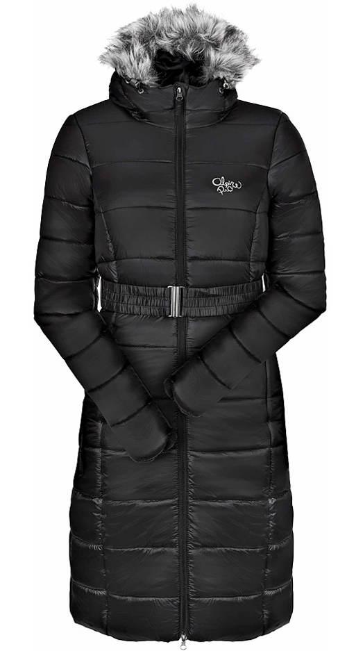 Dlouhý dámský prošívaný kabát Alpine Pro