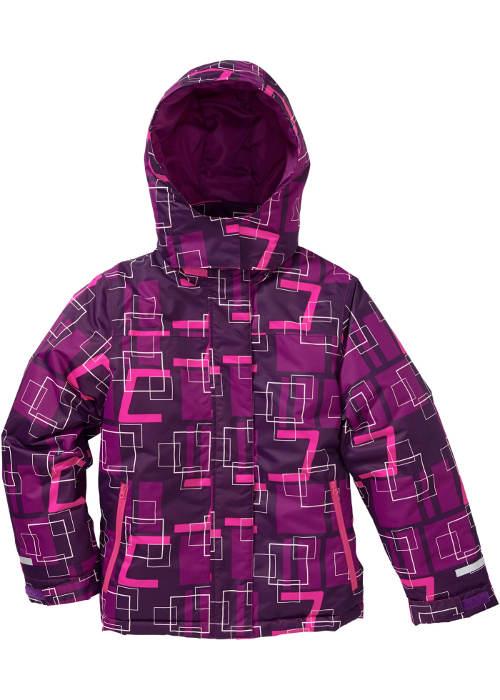 Fialovo-růžová dětská bunda