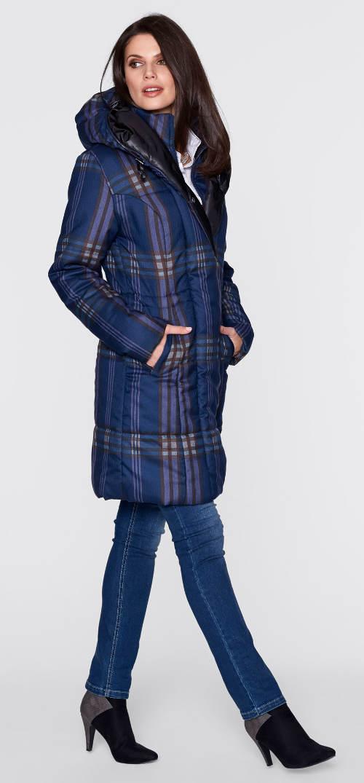 Karovaná dámská zimní bunda