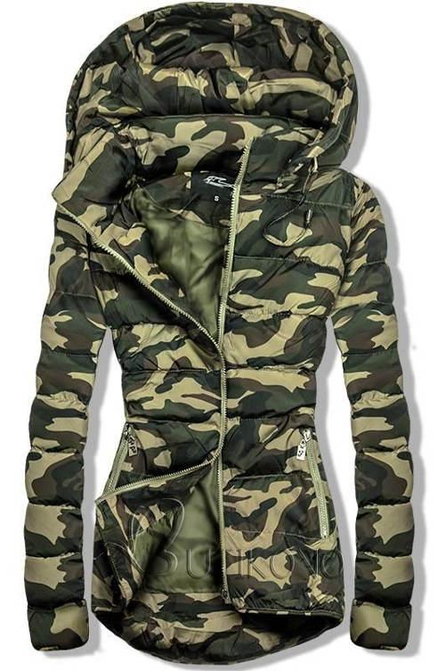 Makačová dámská army bunda s odepínatelnou kapucí