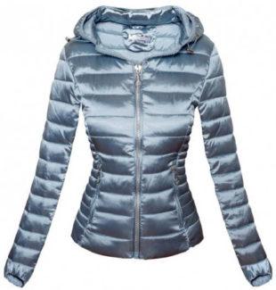 Moderní lesklá stříbrná bunda
