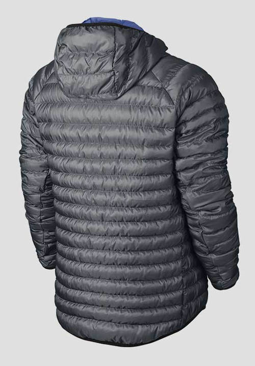 Pánská šedá prošívaná bunda Nike