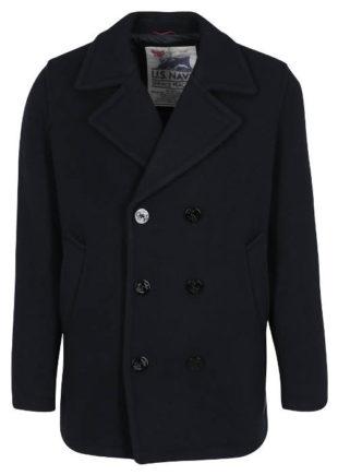 Pánský tmavé modrý vlněný kabát