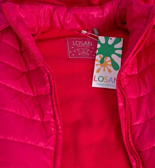 Růžová zimní bunda pro holčičku