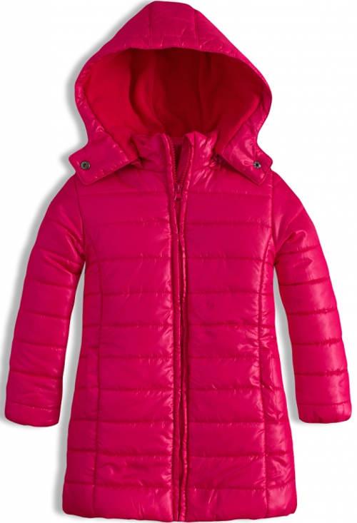 Růžový dívčí zimní kabát LOSAN