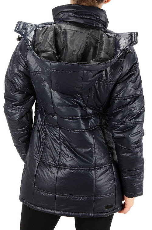 Tmavě šedá lesklá dámská bunda