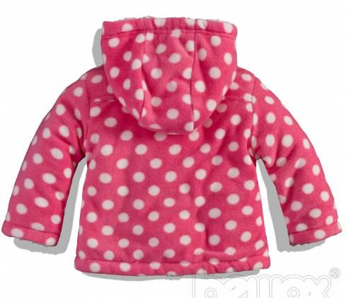 Zateplený dívčí kojenecký kabátek