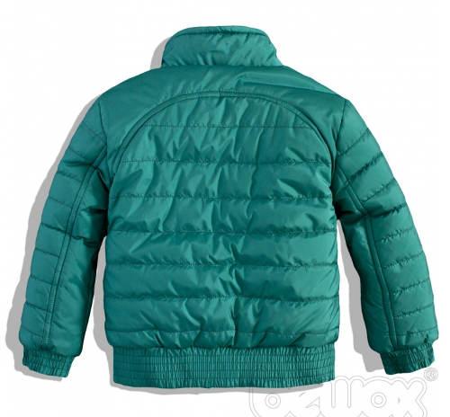 Zelená chlapecká prošívaná bunda