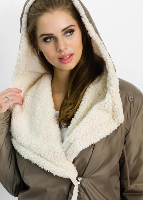 Zimní bunda s medvídkovým flísem