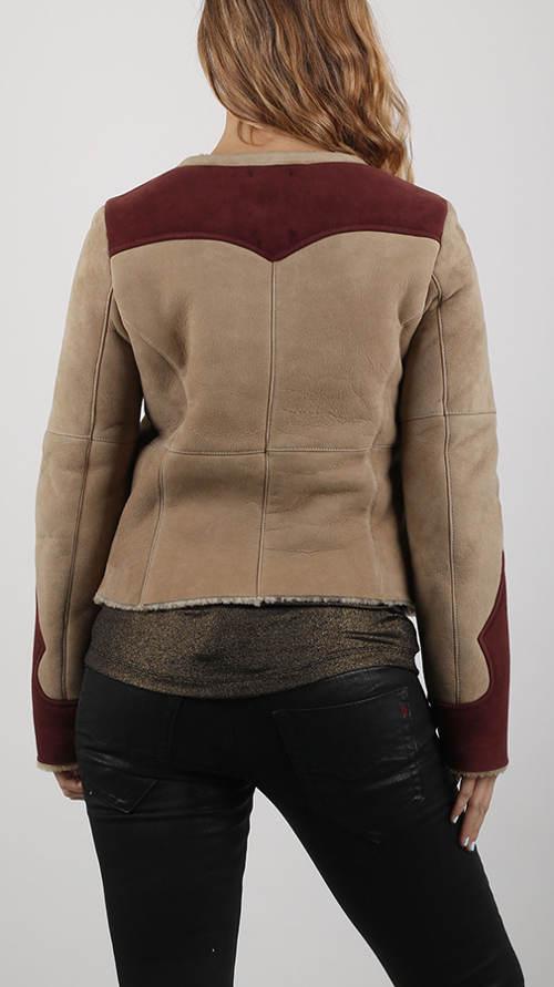 Zimní bunda z jemné jehněčí kožešiny