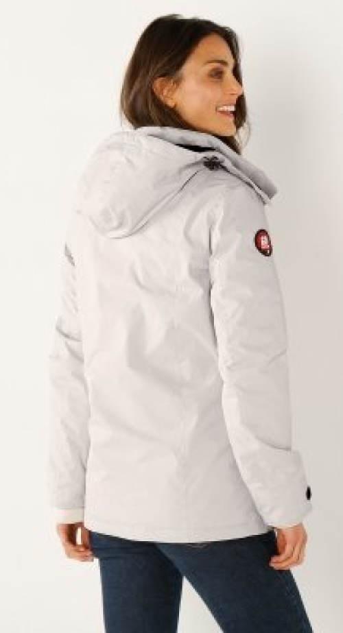Béžová bunda pro plnoštíhlé výprodej