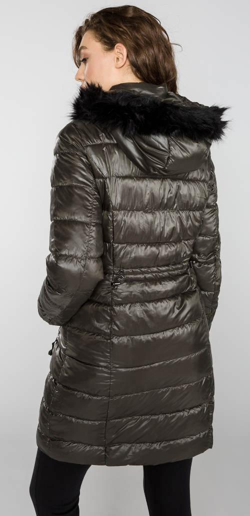 Dámská prodloužená lesklá bunda