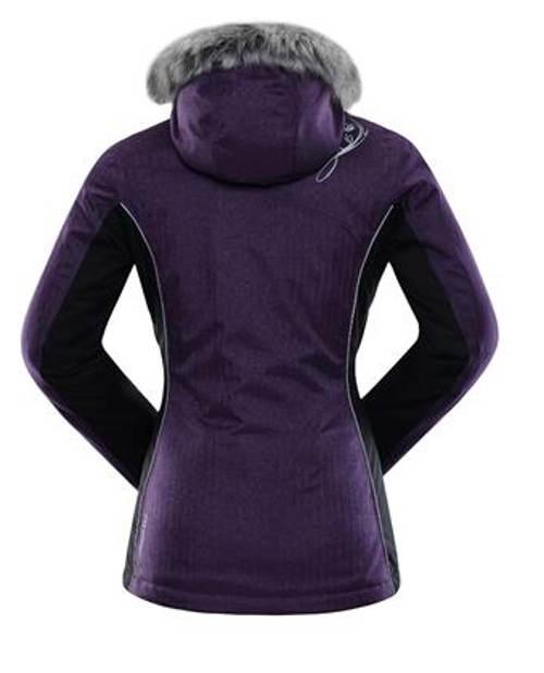 Fialová dámská zimní bunda Alpine Pro