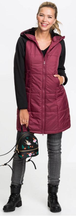 Levný prošívaný dámský zimní kabát