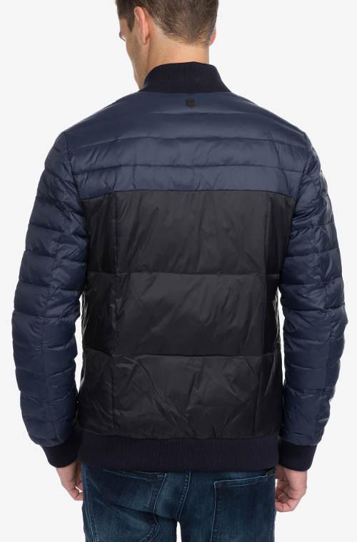 Modro-černá pánská zimní bunda