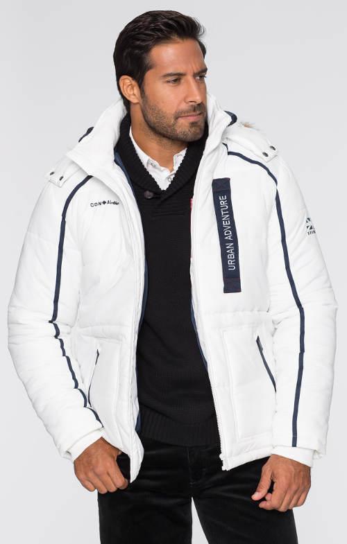 Vatovaná pánská prošívaná zimní bunda