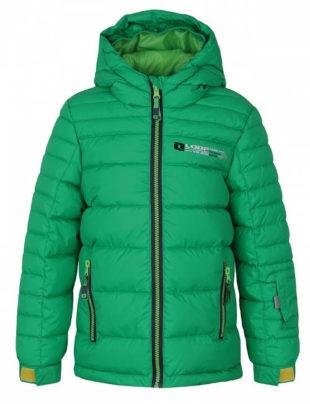 Zelená dětská lyžařská bunda Loap
