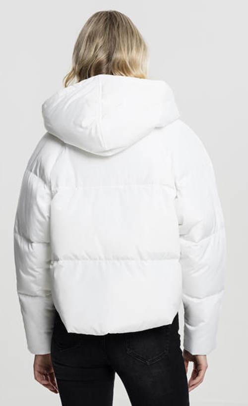 Bílá dámská zimní bunda do pasu