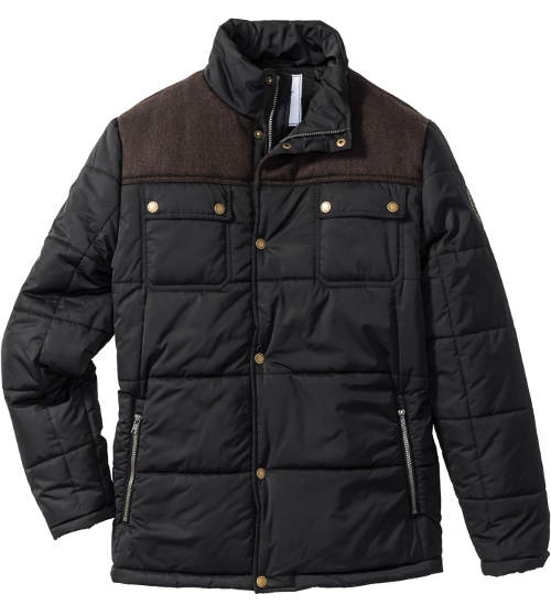 Černá vatovaná pánská zimní bunda