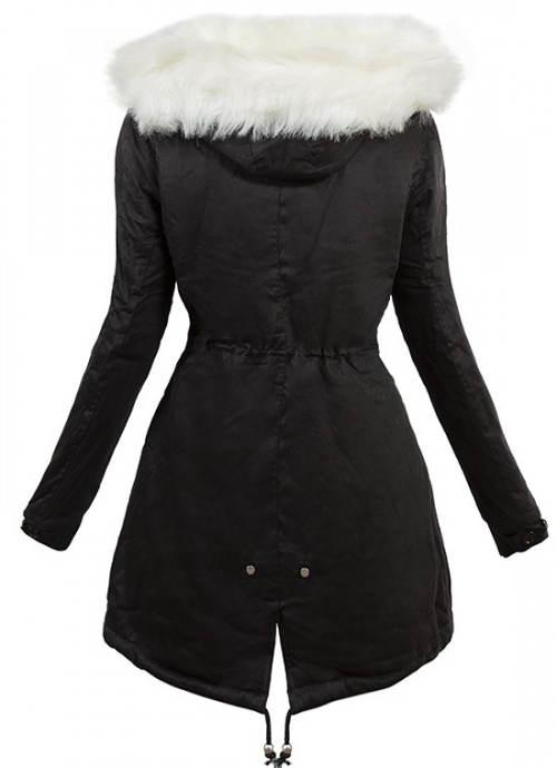 Černobílá dámská zimní bunda