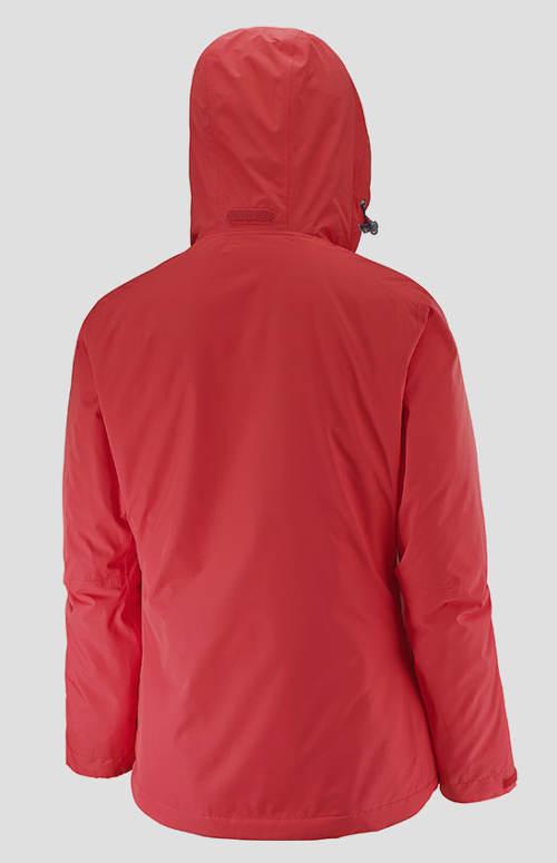 Červená dámská funkční bunda s kapucí Salomon