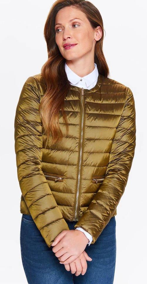 Dámská bunda zlaté barvy