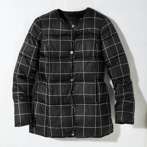 Dámská prošívaná kostkovaná bunda