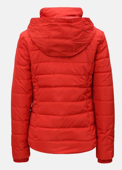 Dámská zimní bunda s kapucí v límci