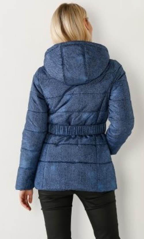 Dámská zimní džínová bunda