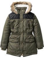 Dívčí parka s kapucí a medvídkovou podšívkou