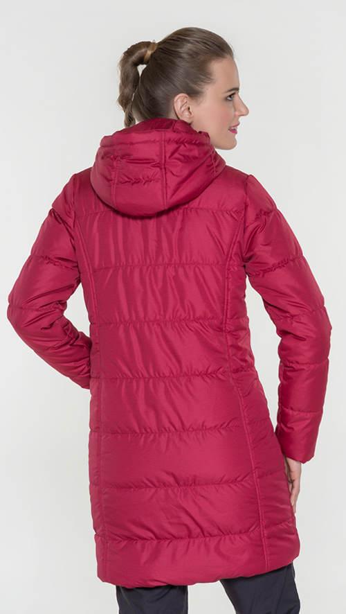 Dlouhý prošívaný fialový dámský zimní kabát 4e73c45e4c2